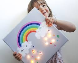 Rainbow Lamp Cloud Lamp Cloud Light Marquee Light Lighted Marquee Rainbow Led Light Up Canvas Marquee Night Light Rainbow Lighting