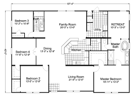 American Freedom Triplewide manufactured home floor plan or    Floor Plans   gt American Freedom Triplewide AFWX B