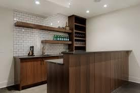 Models Modern Basement Wet Bar Contemporarybasement R Throughout Impressive Design