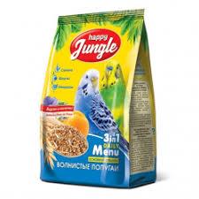Отзывы о Корм для <b>волнистых</b> попугаев <b>Happy Jungle</b>