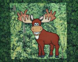 Moose quilt pattern | Etsy & Moose PDF applique quilt block pattern; North American forest or woodland  animal quilt; kid's Adamdwight.com