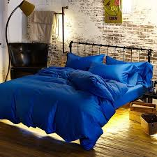 royal blue duvet egyptian cotton bedding sets doona cover bed sheets king queen size bedsheet bedspread linen solid color luxury western quilt covers