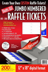 Perforated Raffle Ticket Sheets Blanks Usa Pre Cut Jumbo Numbered Raffle Tickets Tkx02fmwh Wantitall