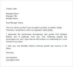 Letter Of Resignation 2 Weeks Notice Template Impressive 48samples Of 48 Weeks Notice Resume Cover