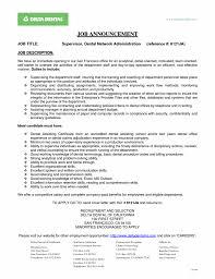 Dental Office Resume Cover Letter Cover Letter