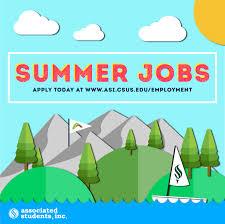 Summer Jobs With Asi Asi Associated Students Inc