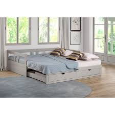 trundle daybed with storage. Perfect Storage Melody Twin To King Trundle Daybed With Storage Drawers Dove Gray In With R