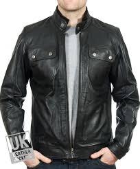 men s black leather biker jacket cobalt main