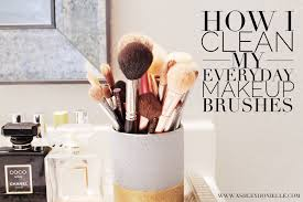 my everyday makeup brushes how i clean them