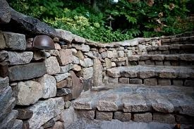 custom mounted step lights mounted in stack stone wall custom mounted outdoor lighting fixtures mounted in stone work stacked stone walls