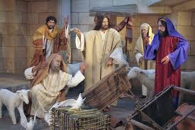 Resultado de imagem para jesus no templo com bois