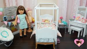 Baby Doll Bedroom Set Up for American Girl Room - Toy Furniture ...