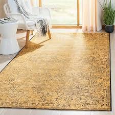 safavieh palazzo black cream yellow vintage area rug black creme