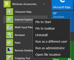 Windows 10 Explorer How To Launch Internet Explorer 11 In Windows 10