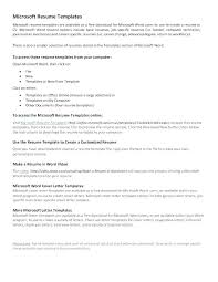 Professional Resume Template Microsoft Word 2010 Word Resume