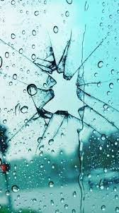 Broken Glass Rain Drops 4K Ultra HD ...