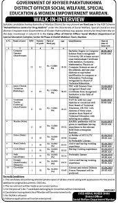 kpk govt district officer social welfare jobs application kpk govt district officer social welfare jobs 2015 application form interview dates