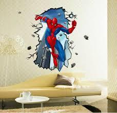 3d spider man wall stickers wallpaper