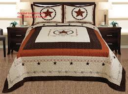 Amazon.com: 3-piece Western Lone Star Barb Wire Cabin / Lodge ... & Amazon.com: 3-piece Western Lone Star Barb Wire Cabin / Lodge Quilt  Bedspread Coverlet Set King / Cal King Size Beige, Brown, Black: Home &  Kitchen Adamdwight.com