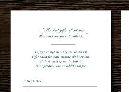 Photography Gift Certificate Template Card For Photographers