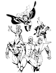 Small Picture Classic X Men Comic Coloring Page H M Coloring Pages