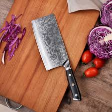 "SUNNECKO <b>7</b>"" <b>inches</b> Cleaver Chopping Knife Damascus Steel ..."