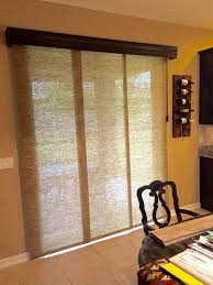 furniture wonderful sliding door wood blinds 24 vertical for patio stunning natural fiber shades glass treatment