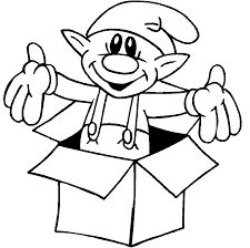 Christmas Elf Coloring Pages Kidscoloringsourcecom