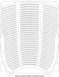 Warner Grand Theatre Seating Chart Grandvision Org