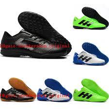 2018 mens soccer cleats indoor soccer shoes turf nemeziz messi tango 18 4 tf ic football boots