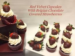 Chocolate Strawberries On Red Velvet Cupcakes Birthday Cakes