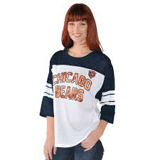 Chicago Bears Womens First Team 3 4 Sleeve Mesh T Shirt Touch By Alyssa Milano
