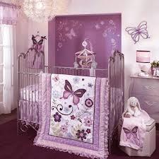 purple erfly bedding set for nursery baby girl decor