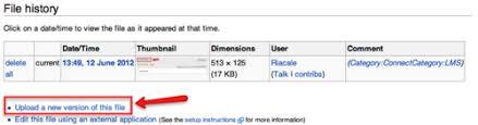 Wiki Upload File Documentation Mediawiki Basics Replace An Existing File How