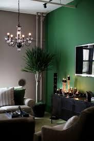 Wohnzimmer Farbgestaltung 28 Ideen In Grün Dunkelgrüne Wand
