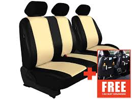 ford transit custom van 2016 eco leather seat cover set beige fast delivery