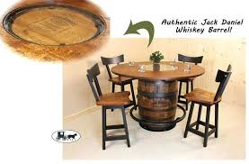 whiskey barrel set table and chairs 2 whiskey barrel table set burnt hickory and chairs antique