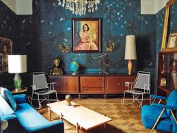 Eclectic Interior Design Living Room Blue Walls Furniture The Difference  Between Modern And Kukun
