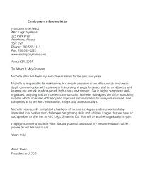 Sample Letter Of Recommendation Employee Employee Reference Letter Examples Sample Of Employee Recommendation