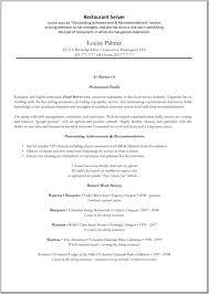cover letter server objective resume cocktail server resume food service cover letter