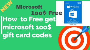 how to get free microsoft gift card codes generator redeem