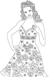 Small Picture Fashion Fashion Models Coloring Page Fashion Show Coloring Page