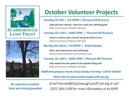 Upcoming Events Flyer Oct 2018 Upcoming Events Flyer 2 0 Scarborough Land Trust