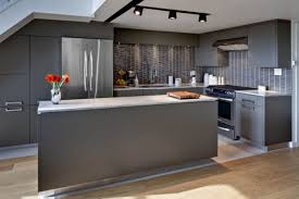 contemporary kitchen colors. Stylish Contemporary Kitchen In Metallic Color Colors H
