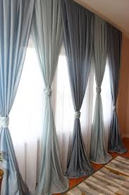 inverted pleated voile dry blue window sheers sheer curtains ds made to order