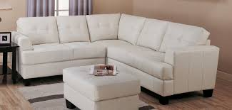 dwight cream leather sectional sofa