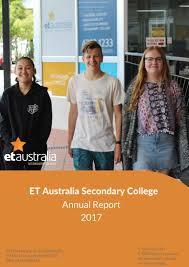 College Report Title Page 2018 Annual Report Title Page Et Australia