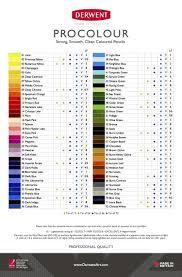 Derwent Procolour Lightfast Chart Derwent Procolour Review Derwent Pencils Color Mixing