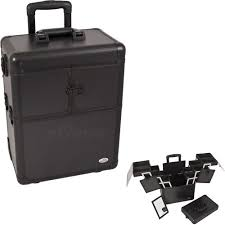 21 inch interchangeable e series 360 rotation aluminum rolling makeup case