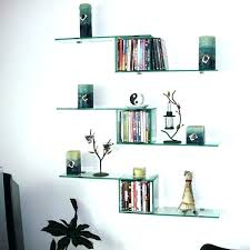 office floating shelves. Floating Shelves Above Desk Office  Glass Mirror Home . W